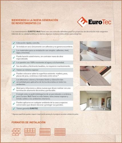 revestimiento cementicio eurotec wallpanel ideal baño cocina