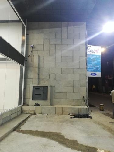 revestimiento de fachadas y paredes 3d