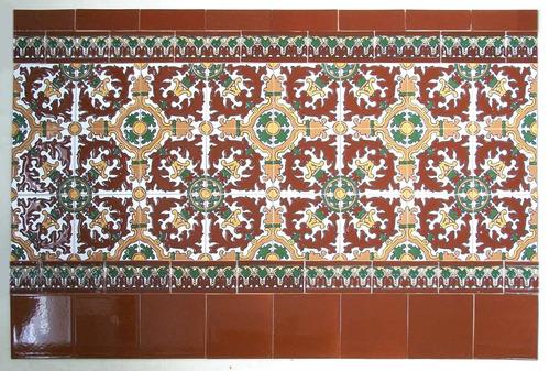 revestimiento de mayólica española. 80cm (sor1515m)