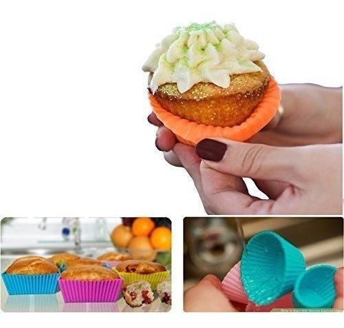 revestimiento de moldes para pastel de silicona con forma de