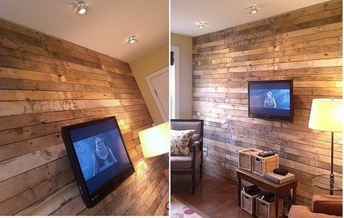 revestimiento de pared de madera inmunizada