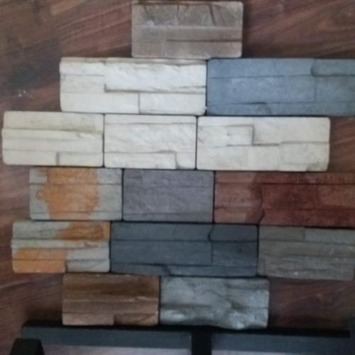 revestimiento de pared simil piedra en hormigón! aridos c&a