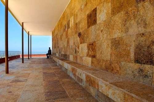 revestimiento de piedra morisca arena 40x60 piso/pared n3