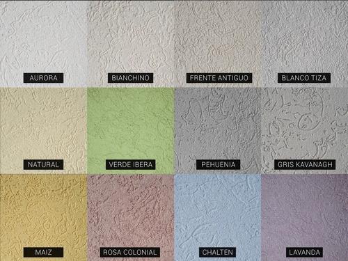 revestimiento impermeable texturado pared interior exterior