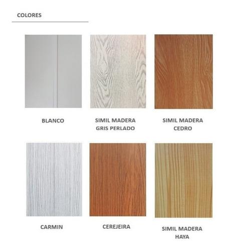 revestimiento interior color haya 6m machimbre pvc 224