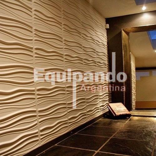 revestimiento paneles pared cielorraso pvc 3d wall 50 x 50cm - Paneles De Pared