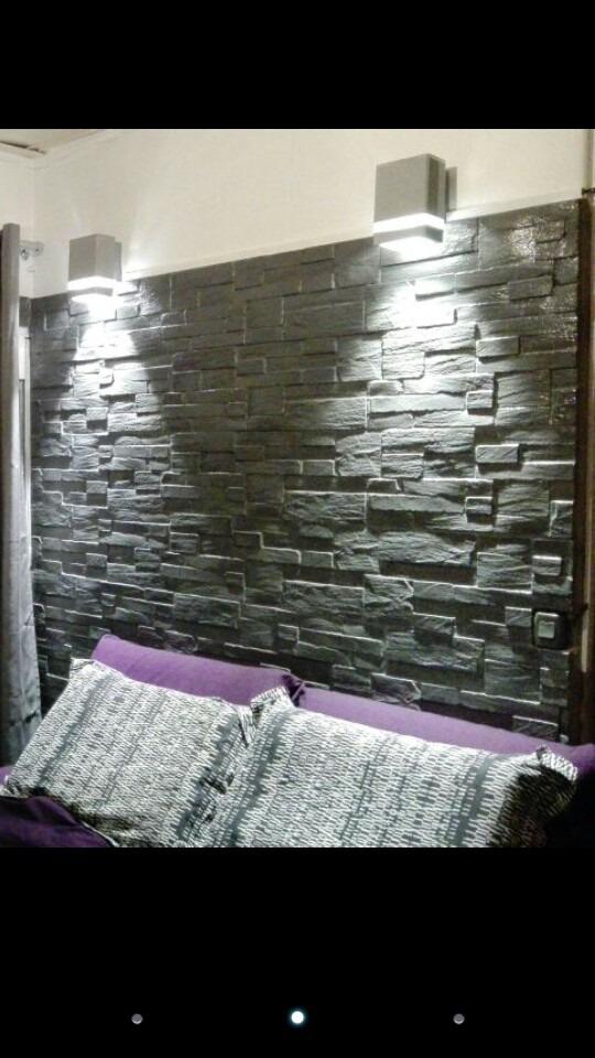 Revestimiento para pared imitacion piedra 55 00 en - Imitacion piedra pared ...
