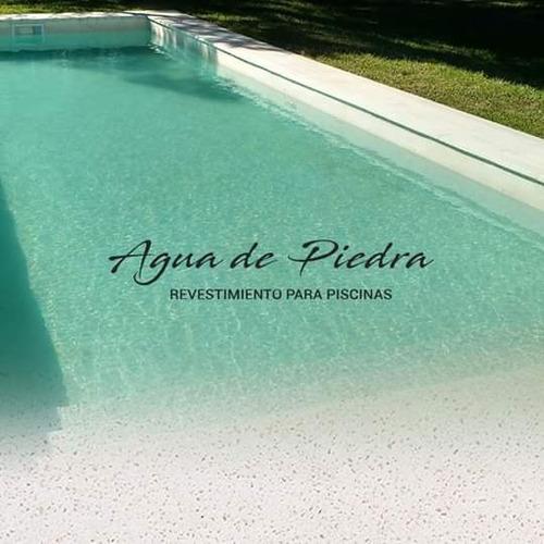 revestimiento para pileta piscina agua de piedra kit 5 mt2!