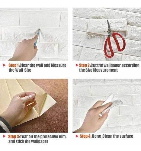 revestimiento pared 3d foam autoadhesivo colomural tapiz