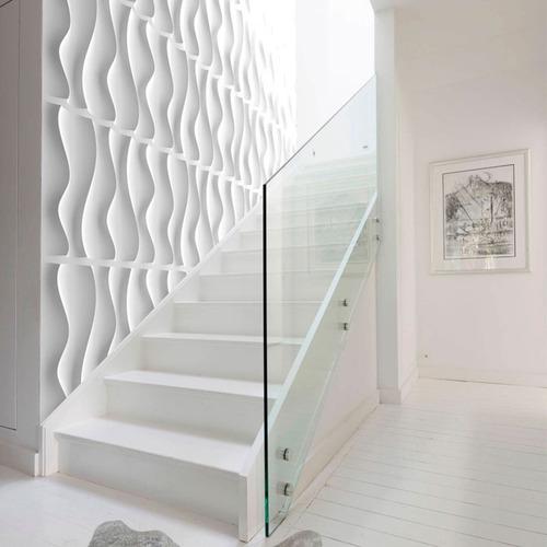 revestimiento pared modelo rectangulos 3d pvc placas 50x50