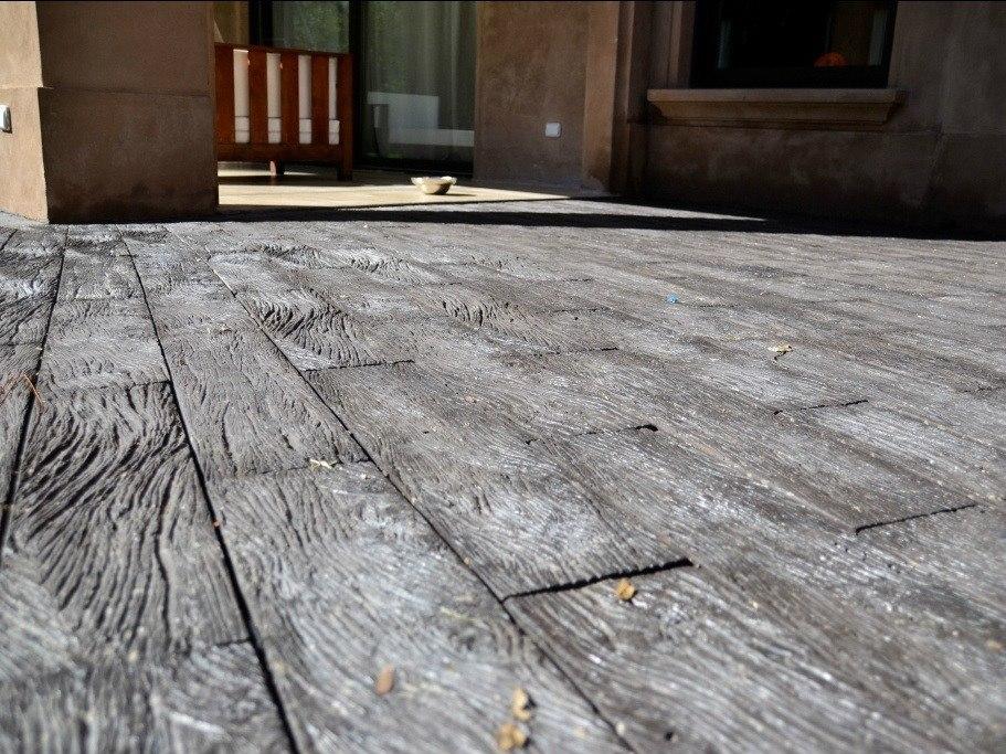 Revestimiento piedra simil madera durmiente tierra sombra - Revestimiento simil piedra ...