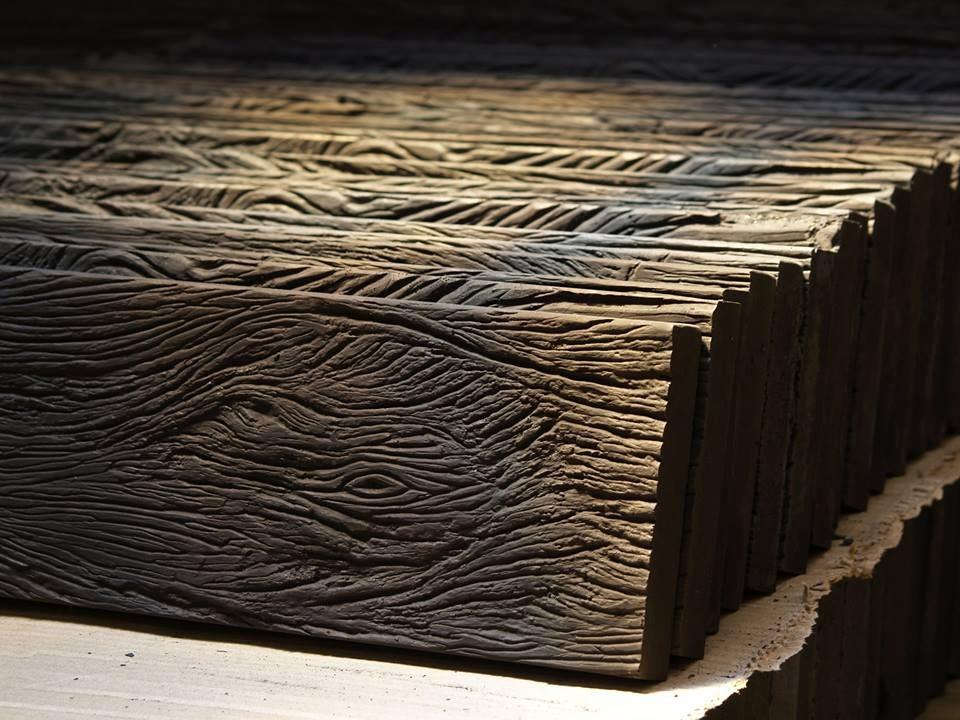 Revestimiento piedra simil madera durmiente tierra sombra - Revestimiento en piedra para exterior ...