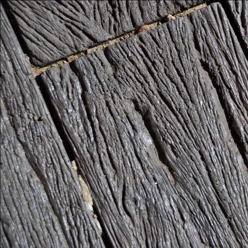 Revestimiento piedra simil madera durmiente tierra sombra - Revestimiento imitacion madera ...