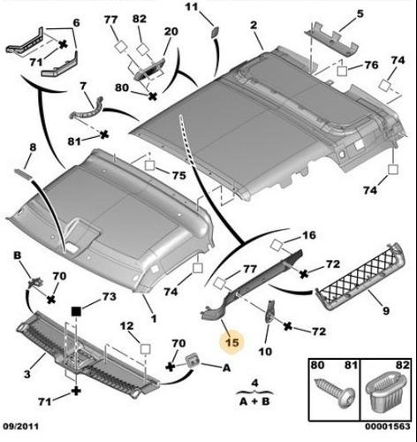 revestimiento rail superior izquierdo berlingo - partner