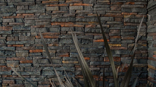 revestimiento símil piedra - colores naturales - caja 0,53m²