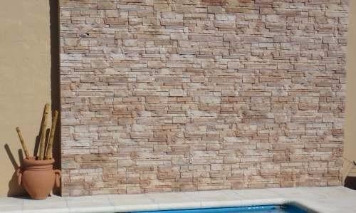 Piedra para exteriores mesa y bancos de piedra natural for Revestimiento piedra exterior