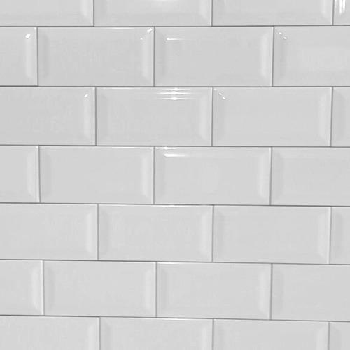 revestimiento subway blanco vidrio malla azulejo deco retro