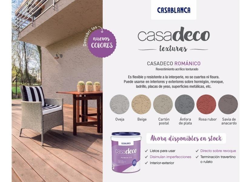 Revestimiento Texturado Casadeco Romanico Casablanca X 30