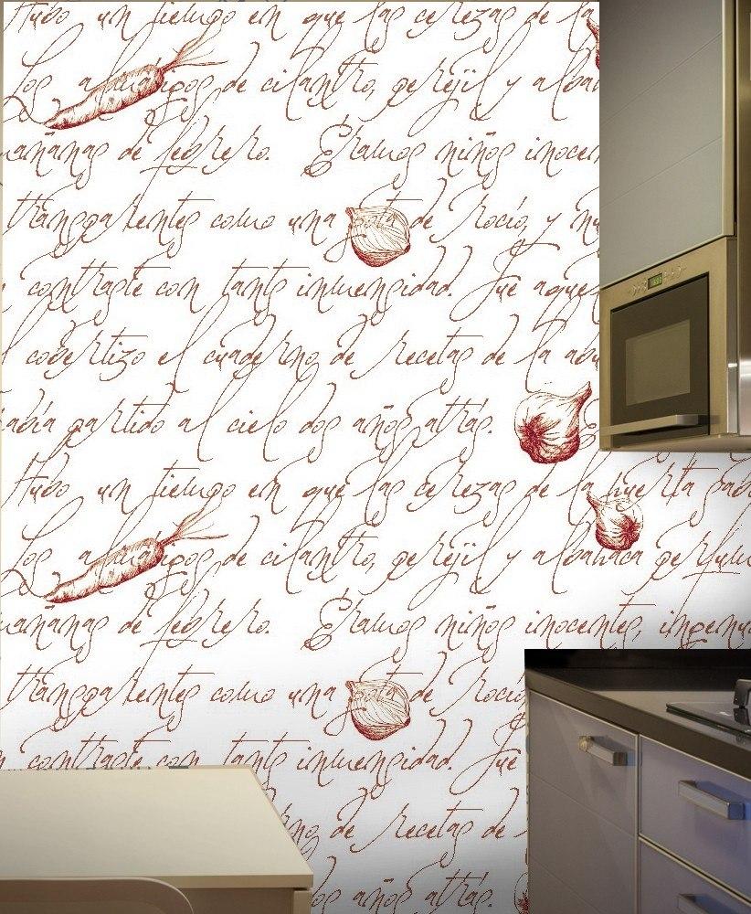 Revestimiento Vinilo Autoahesivo Pared Cocina Letters - $ 220,00 en ...