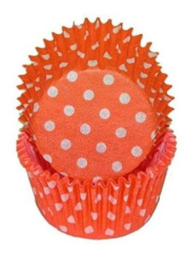 revestimientos de magdalena con lunares naranja recuento de