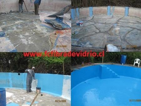 revestimientos y reparacion en fibra de vidrio para piscinas