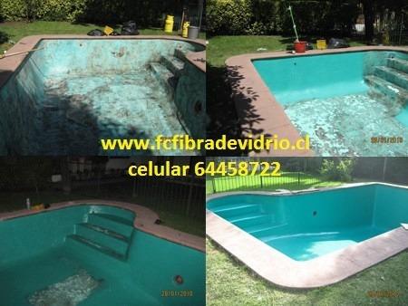 Revestimientos y reparacion en fibra de vidrio para for Reparacion piscinas