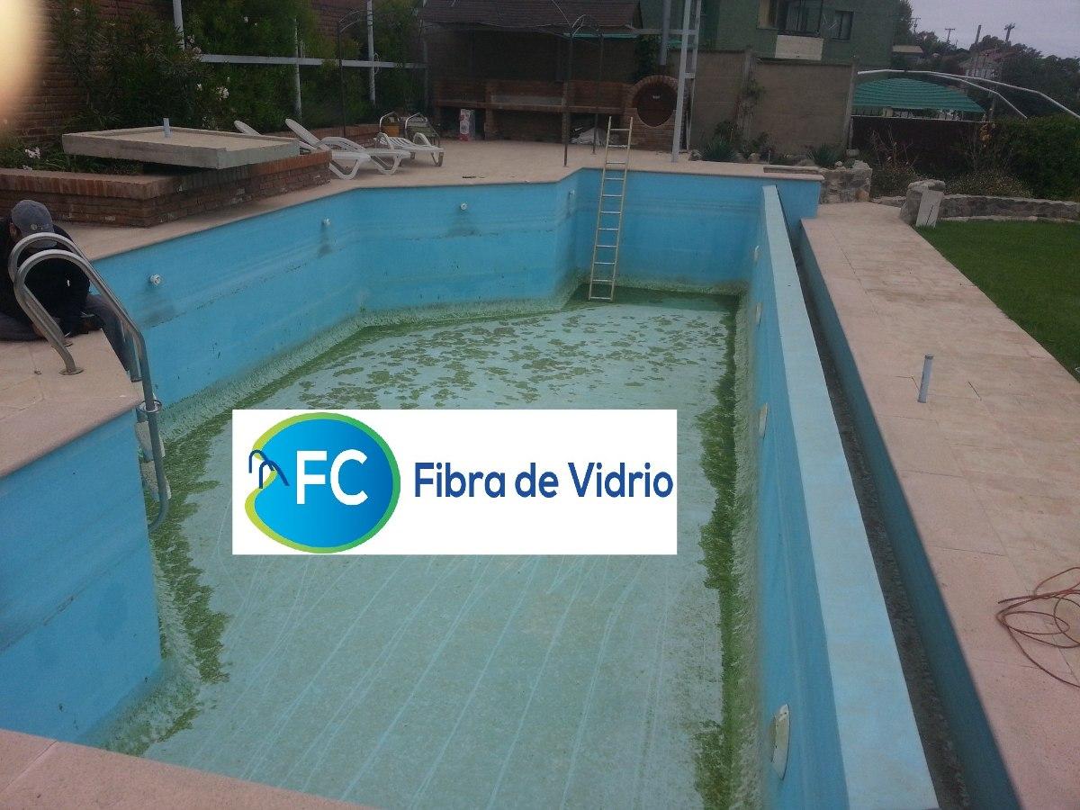 Revestimientos y reparacion en fibra de vidrio para for Vidrio para piscinas