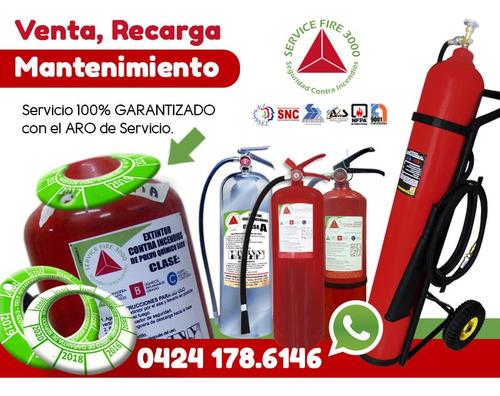 revisión recarga mantenimiento de extintores contra incendio