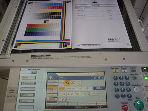 revisión y diagnóstico técnico copiadoras ricoh toner-repues