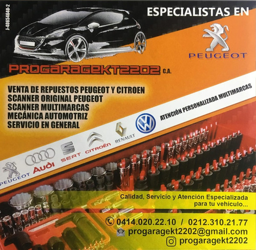revision y reparacion peugeot, escaner y diagnostico