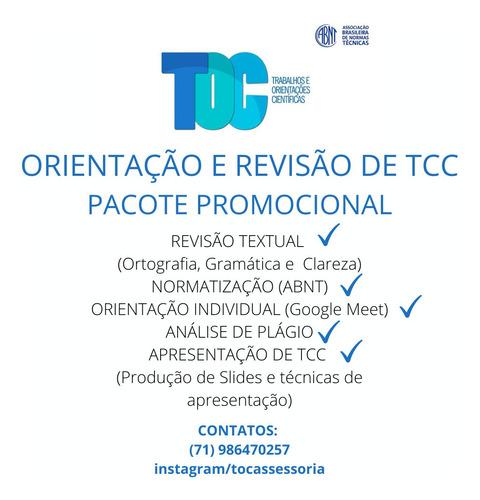 revisão e orientação de tcc e demais trabalhos acadêmicos