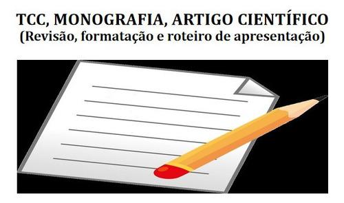 revisão, orientação e formatação do tcc, monografia e artigo