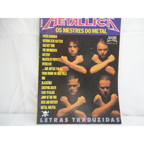 Revista - Metallica -  Letras Traduzidas - Top Rock Especial