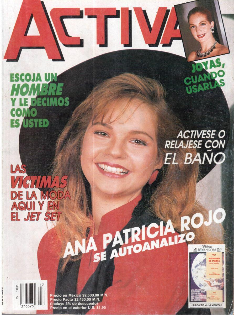 Ana Patricia Rojo revista activa núm. 17 en la portada ana patricia rojo - $ 50.00