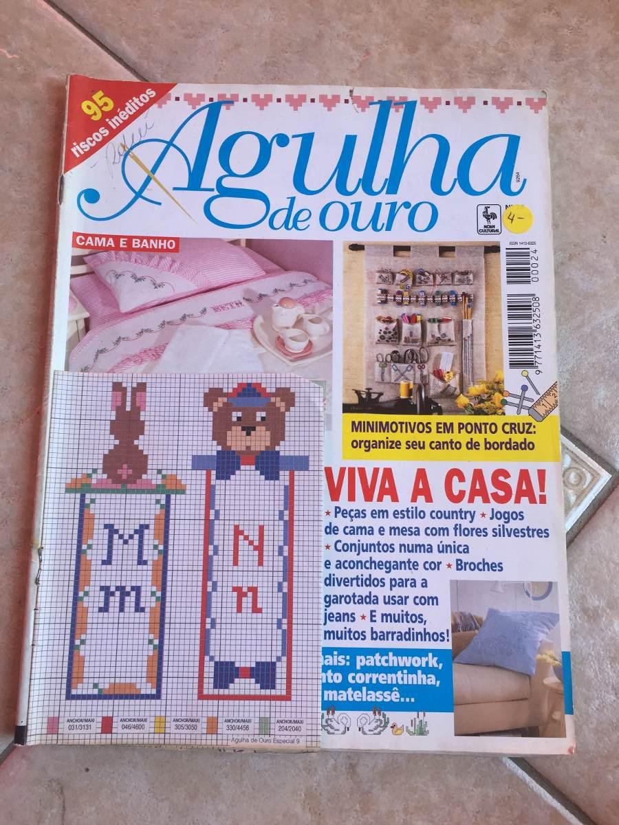 Revista Agulha De Ouro Cama E Banho Ponto Cruz Cozinha N 24 R