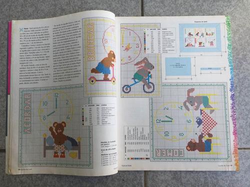 revista agulha de ouro especial bebê ponto cruz n°6