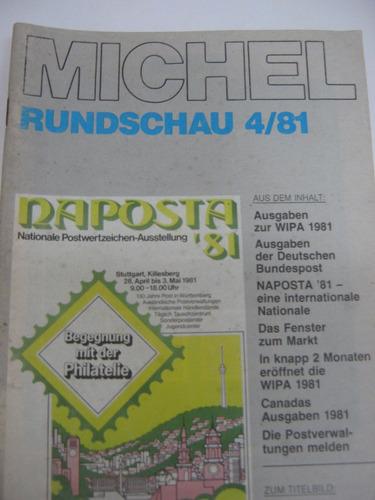 revista alemana michel, filatelia, 13 números, de los 80