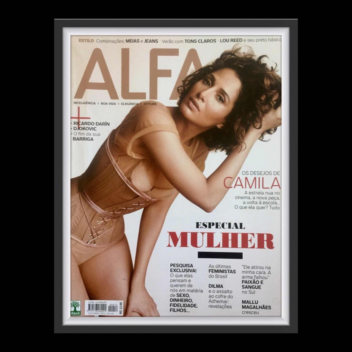 Fotos De Camila Pitanga Nua revista alfa com camila pitanga na capa editora abril
