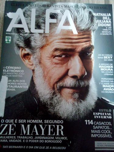 revista alfa maio 2012 - zé mayer - nathallia dill -