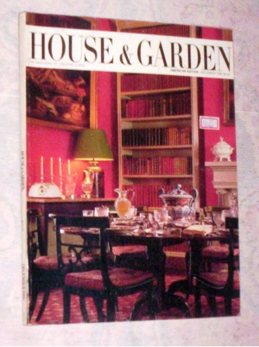 revista americana decoração 1986 house & garden