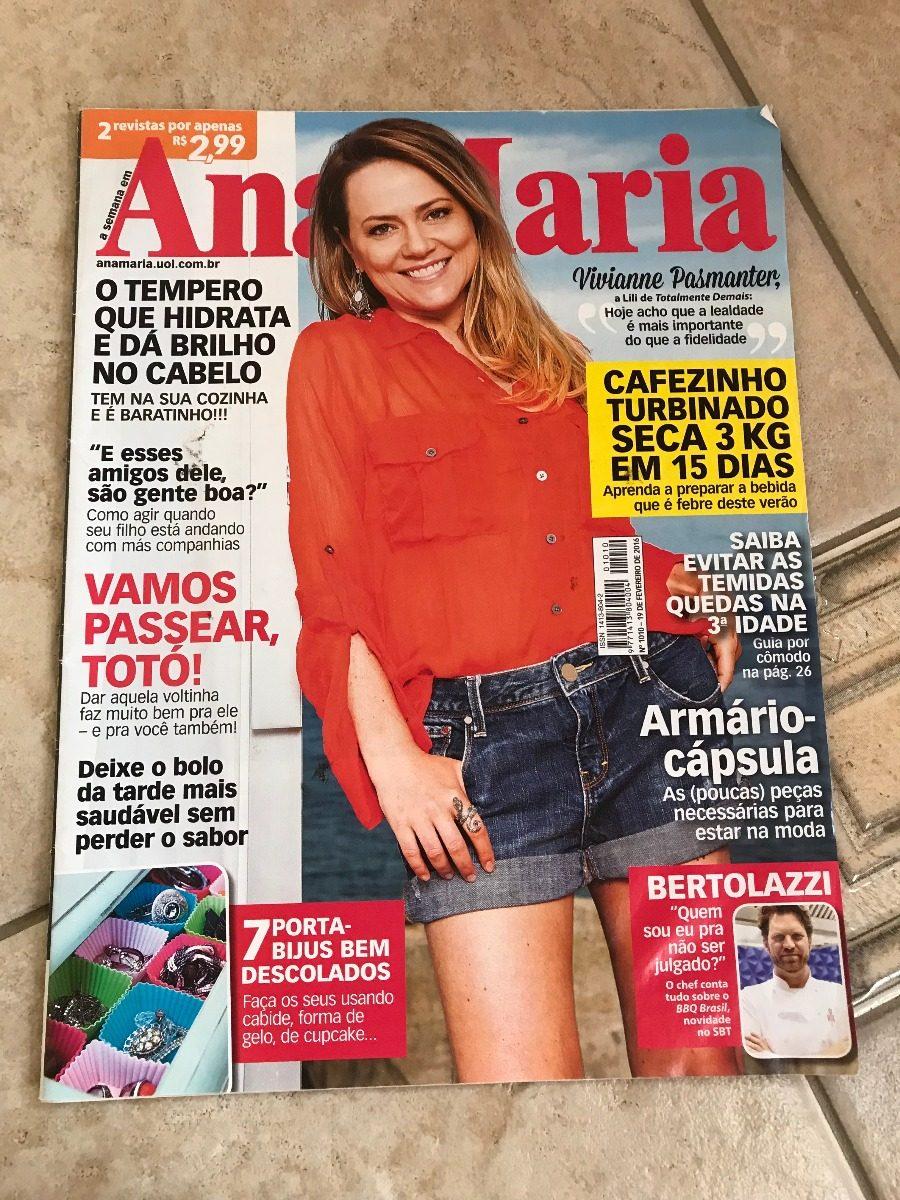 77fac1bae79 Revista Ana Maria 1010 Vivianne Pasmanter Carlos Bertolazzi - R  27 ...