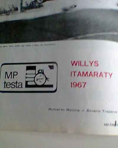 revista antiga mecânica popular 1º teste willys itamaraty