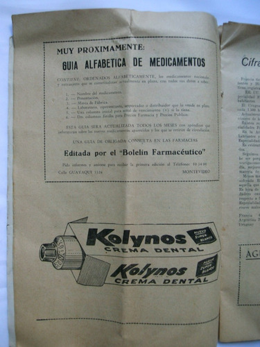 revista antigua de farmacia coleccionable/publicidad