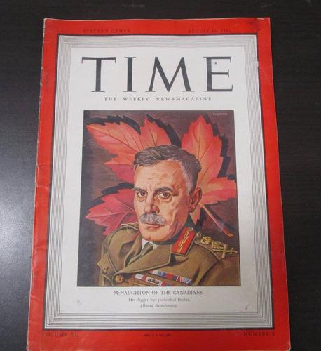 revista antigua time 1942 mcnaughton of the canadians
