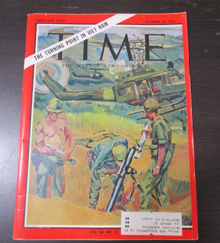 revista antigua time 1965 the turning point in vietnam