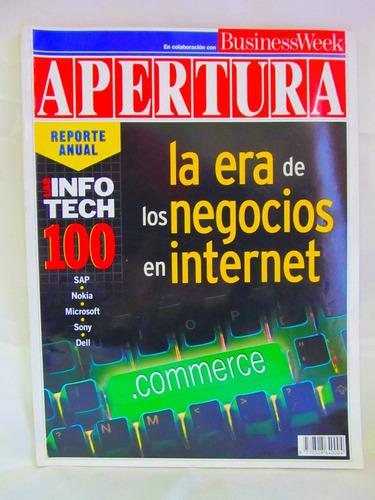 revista apertura 1998 la era de los negocios en internet