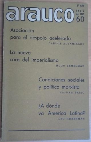 revista arauco n° 60 pensamiento socialista 1965