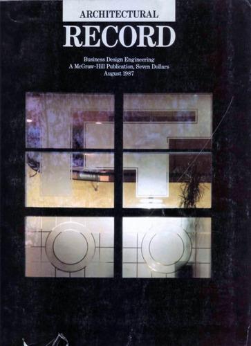 revista architectural record. agosto 1987