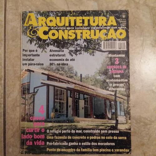 revista arquitetura & construção 1/1998 cozinhas pára raios