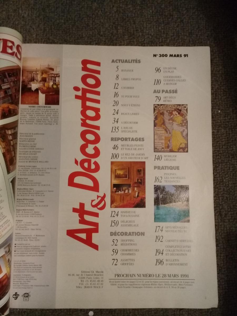 Revista Art Et Decoration N300 Mars 1991 Palermo 10000 En
